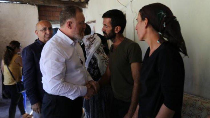 HDP'den Nupelda ve Ayaz'ın ailesini ziyaret