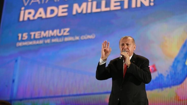 Erdoğan: Anadolu toprakları, 15 Temmuz'da bir kez daha bize vatan kılındı