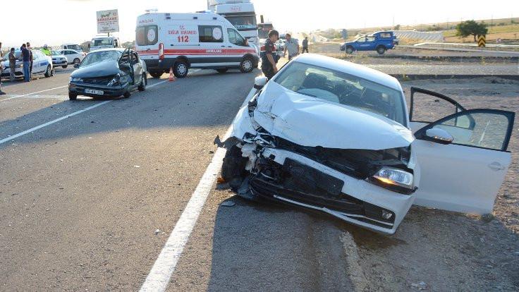 Kırşehir'de kaza: 8 yaralı