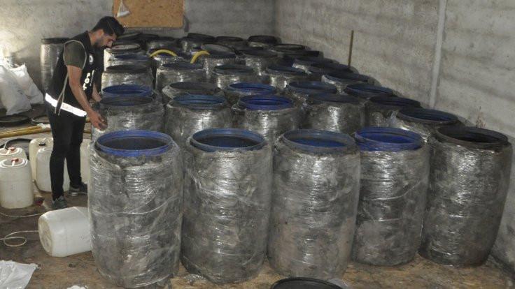 5 bin litre sahte içki bulundu