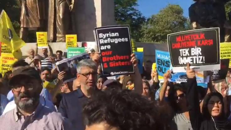 Suriyeliler için eyleme saldırı
