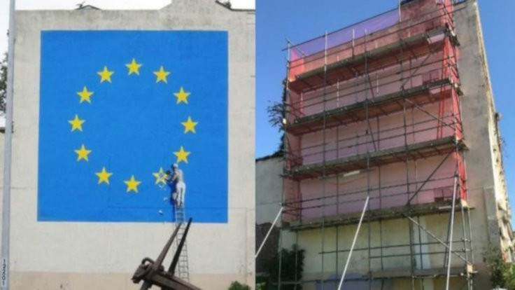 Banksy'nin 'Brexit' resmi kayboldu