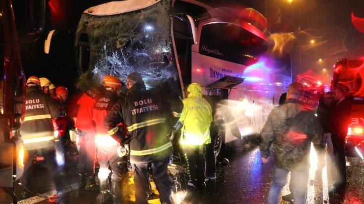 Düzce'de kaza: 30 yaralı
