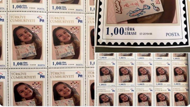 PTT'den Öykü Arin için posta pulu