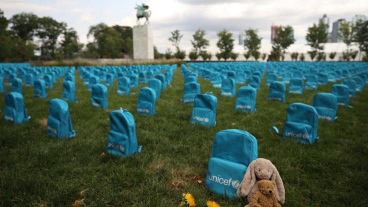 BM Genel Merkezinde 'temsili mezarlık'