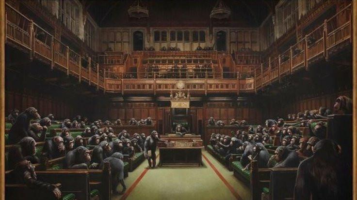 Banksy'nin Geri Evrilmiş Parlamento tablosu satılıyor