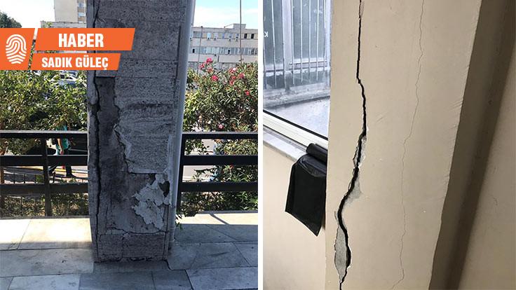 Diş Hekimliği Fakültesi öğrencileri hasarlı binada derse girmedi