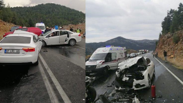 Antalya'da kaza: 4 ölü, 2 yaralı
