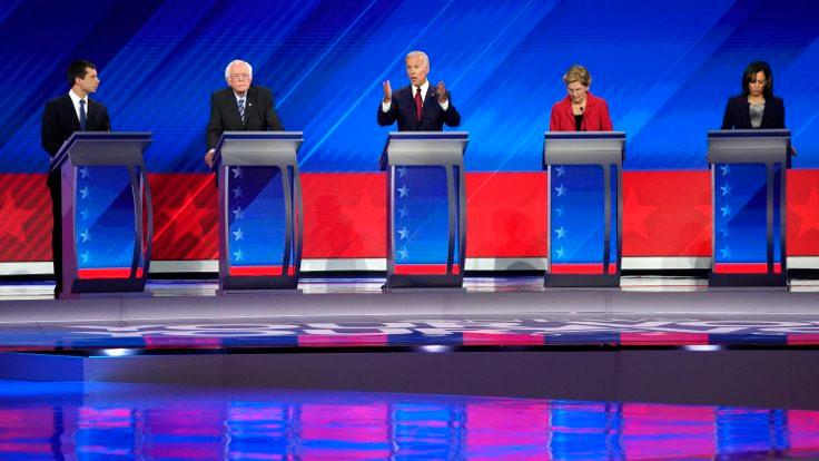 Demokrat Parti adayları canlı yayında buluştu