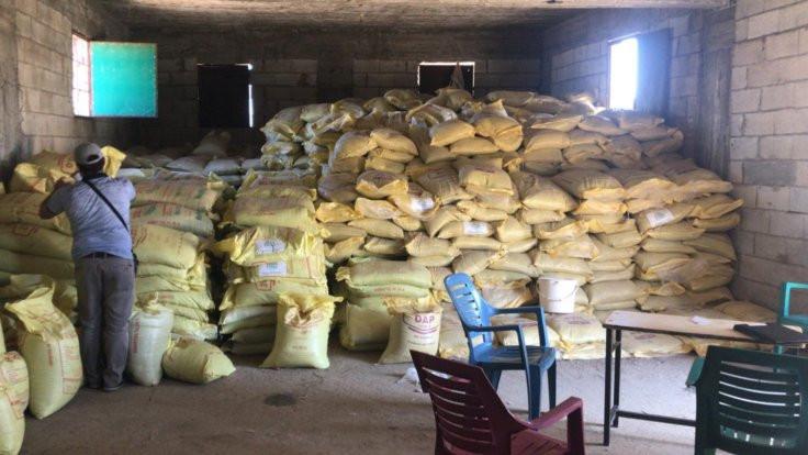 Kilis'te 53 ton kaçak gübre yakalandı
