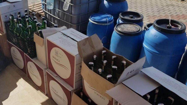 2 bin litre sahte içki bulundu