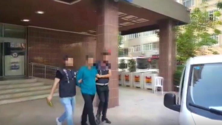 Sahte polis gözaltına alındı