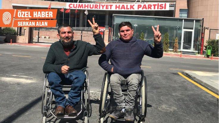 Engelliler talepleri için CHP'de açlık grevinde