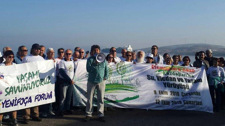 Kaz Dağları'na yürüyüş devam ediyor