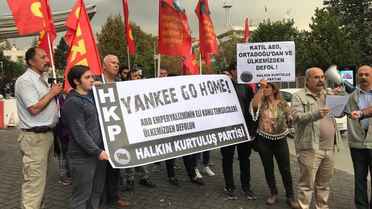 HKP, büyükelçilik önünde ABD'yi protesto etti
