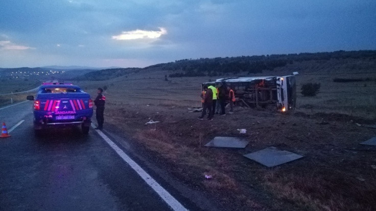 Yozgat'ta kaza: 27 yaralı