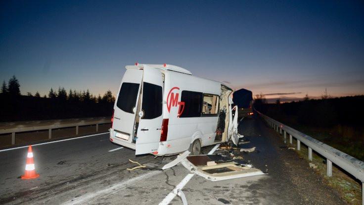 Eskişehir'de kaza: 17 kişi yaralandı