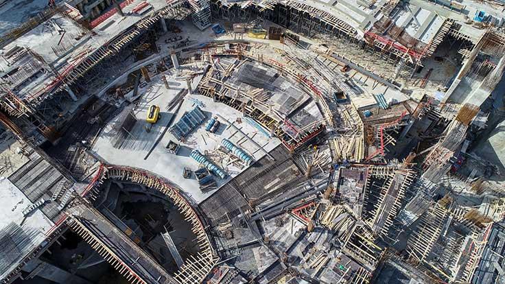 AKM'de kaba inşaatın yüzde 60'ı bitti