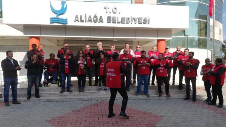 Aliağa'da işçilerden çağrı: İşimizi verin