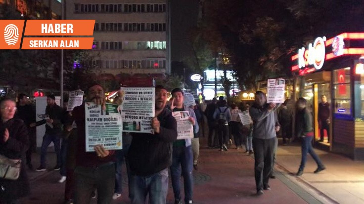Ankara'da seyyar satıcılardan yasak protestosu