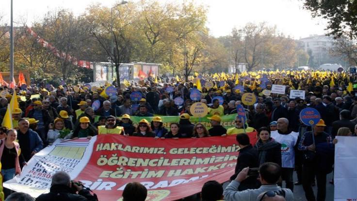 Eğitim Sen'den Ankara'da büyük miting