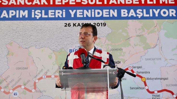 Sultanbeyli metro inşaatı yeniden başlatıldı