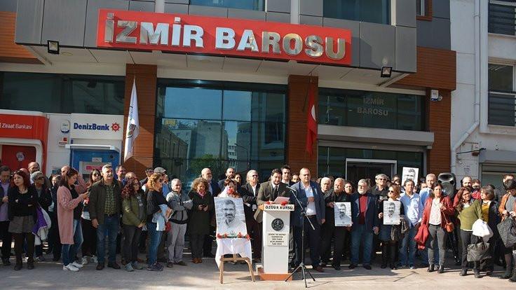 Tahir Elçi İzmir Barosu önünde anıldı