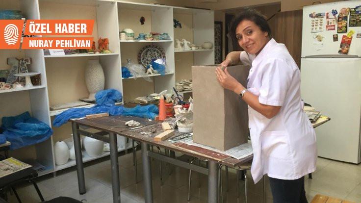 10 Ekim'de ölen eşinin adıyla atölye açan Rabia Sayan: Barışı simgeleyen eserler üretiyorum