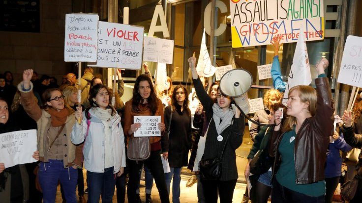 Paris'te Polanski protestosu