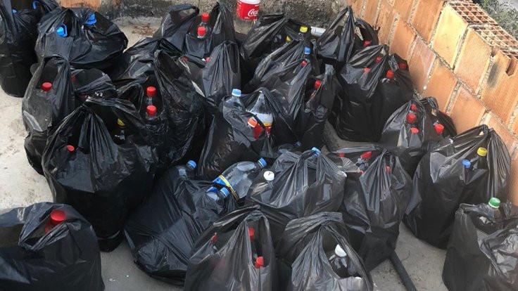 4 bin litre sahte rakı bulundu