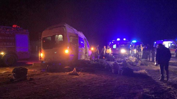 Yozgat'ta kaza: 16 yaralı