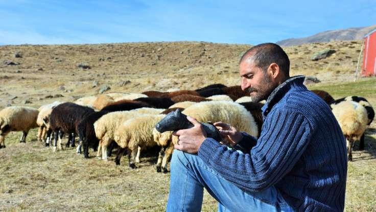 Vartolu çoban, ağacı taşı heykele dönüştürüyor