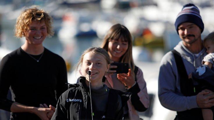 İklim aktivisti Greta Thunberg okyanusu aştı