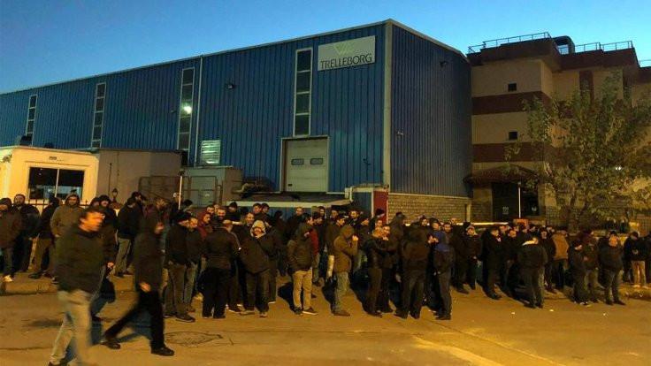 Trelleborg işçileri greve başladı