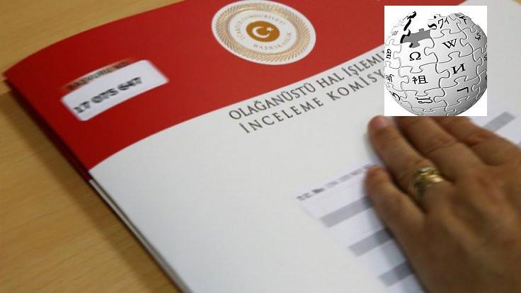AYM, OHAL Komisyonu ve Wikipedia'yı görüşecek