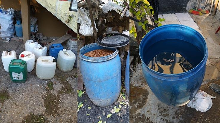 Adana'da 648 litre sahte rakı bulundu