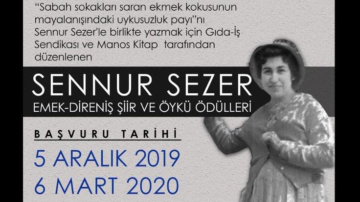 Sennur Sezer Emek-Direniş Şiir ve Öykü Ödülleri için başvurular başladı