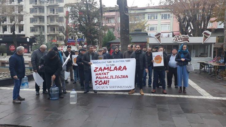 Uşak'ta su zammı protestosu