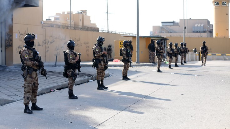 ABD'nin Bağdat Büyükelçiliği yakınına füze atıldı