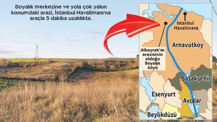 Albayrak, Kanal İstanbul güzergâhında arazi almış