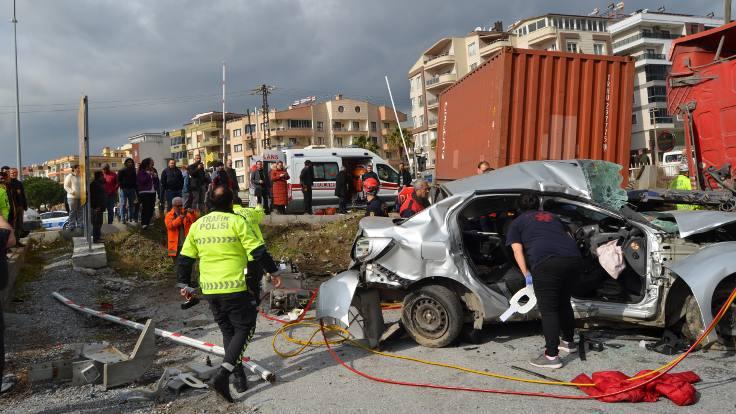 Aydın'da kaza: 1 ölü, 4 yaralı