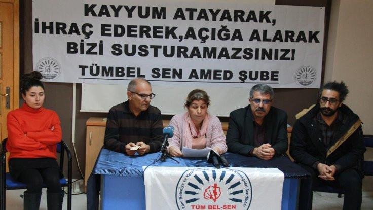 Diyarbakır'da işten çıkarmalar protesto edildi