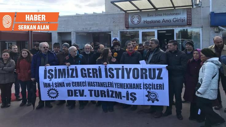 Yılın son günü işsiz kalan işçilerden eylem