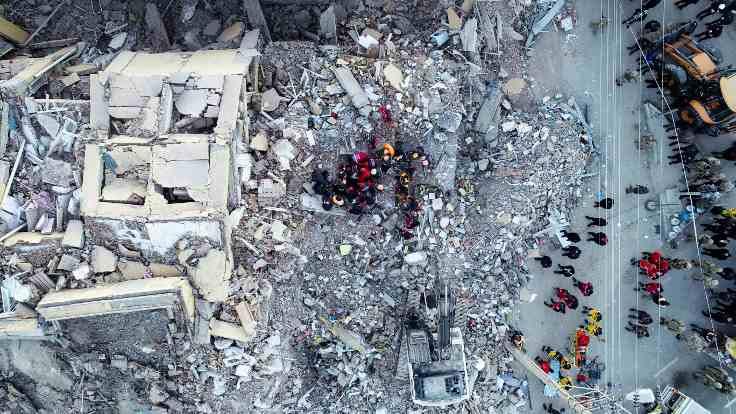 Deprem bölgesinden ilk görüntüler