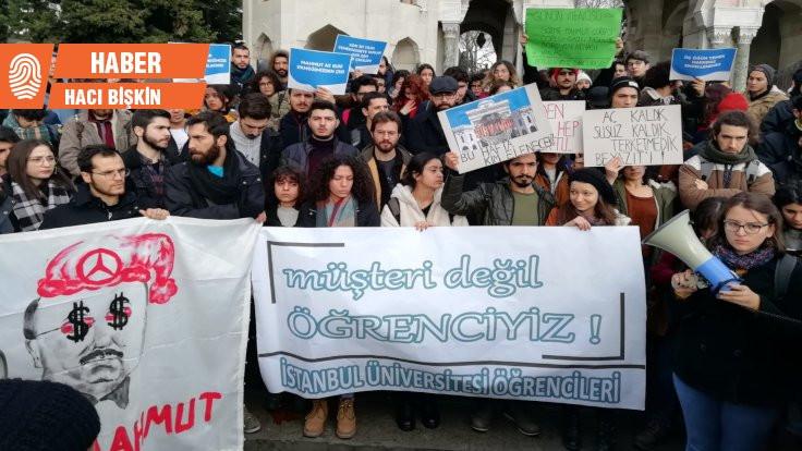 İstanbul Üniversitesi öğrencileri yemek hakları için eylemde