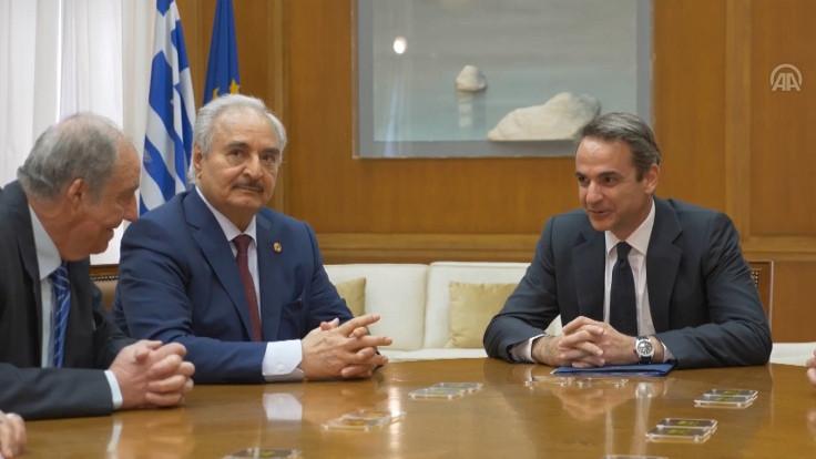 Halife Hafter, Yunanistan Başbakanı Miçotakis'le görüştü
