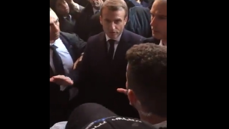 Macron İsrailli polislerle tartıştı