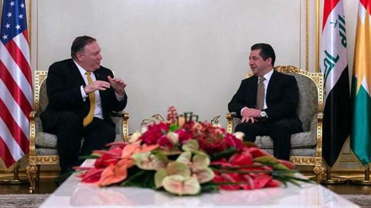Pompeo'yla görüşen Barzani: ABD'ye önerilerde bulundum