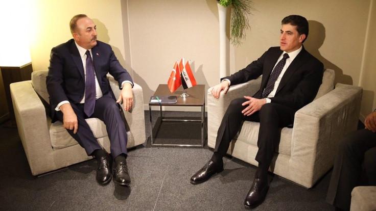 Mevlüt Çavuşoğlu, Barzani'yle görüştü