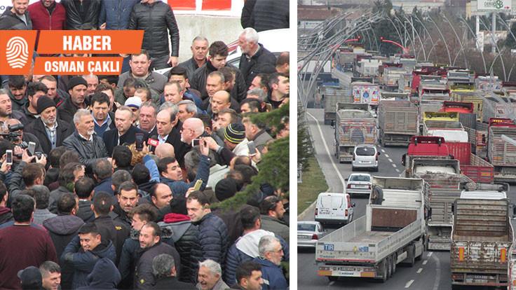 Dijital takograf Uşak'ta protesto edildi